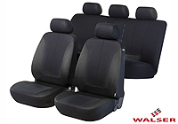 Mercedes Benz S Class coupe (1991 to 1999) :Walser seat covers, full set, Norfolk black and dark grey, 11937