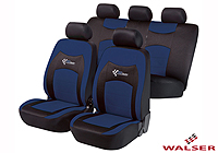 Peugeot 206 SW estate (2002 to 2007) :Walser seat covers, RS Racing red, 11819