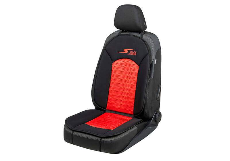 Volvo S60 four door saloon (2010 to 2019):Walser S-Race seat cushion, single, black/red, 11654