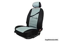 Mercedes Benz S Class coupe (1991 to 1999) :Walser velours seat covers, full set, Secure grey black, 11313