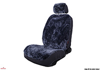 Kia Rio five door (2005 to 2011) :Walser car seat cover (1), real sheepskin, dark grey, 20021