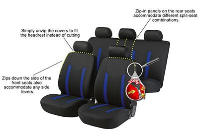 Zipp It Car Seat Covers