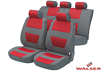 Volkswagen VW Polo five door (2005 to 2009) :Walser velours seat covers, full set, Bozen red, 12398