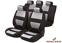 Lancia Delta five door (2008 onwards) :Walser velours seat covers, full set, Bozen silver, 12399
