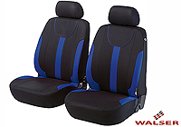 Lancia Delta five door (2008 onwards) :Walser velours seat covers, front seats only, Dorset blue, 11963