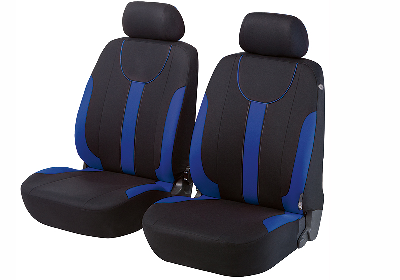 Honda Civic five door (2017 onwards):Walser seat covers, front seats only, Dorset blue, 11963