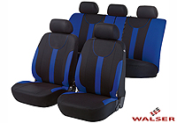 Ford Escort three door (1995 to 1999) :Walser velours seat covers, full set, Dorset blue, 11966