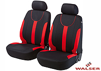 Mercedes Benz S Class coupe (1991 to 1999) :Walser velours seat covers, front seats only, Dorset red, 11962