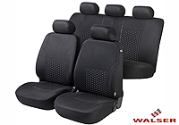 Mercedes Benz S Class coupe (1991 to 1999) :Walser jacquard seat covers, full set, Dotspot, 11939