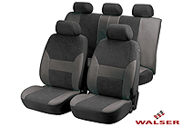 Mazda Xedos 9 (1992 to 2000):Walser velours seat covers, full set, Dubai anthracite, 12417