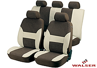 Ford Escort three door (1995 to 1999) :Walser velours seat covers, full set, Dubai brown, 12416