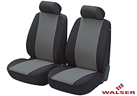 Lancia Delta five door (2008 onwards) :Walser velours covers, front seats only, Flash anthracite, 12549