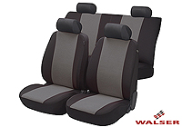Lancia Delta five door (2008 onwards) :Walser velours seat covers, full set Flash anthracite, 12474