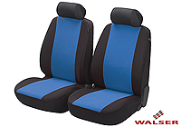 Mercedes Benz S Class coupe (1991 to 1999) :Walser velours seat covers, front seats only, Flash blue, 12547