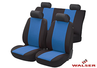 Peugeot 1007 (2005 to 2010) :Walser velours seat covers, full set, Flash blue, 12472