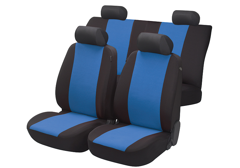 Toyota Land Cruiser Colorado five door (2000 to 2003):Walser seat covers, full set, Flash blue, 12472
