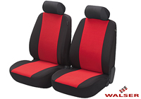 Mercedes Benz S Class coupe (1991 to 1999) :Walser velours seat covers, front seats only, Flash red, 12548