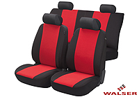 Lancia Delta five door (2008 onwards) :Walser velours seat covers, full set, Flash red, 12473