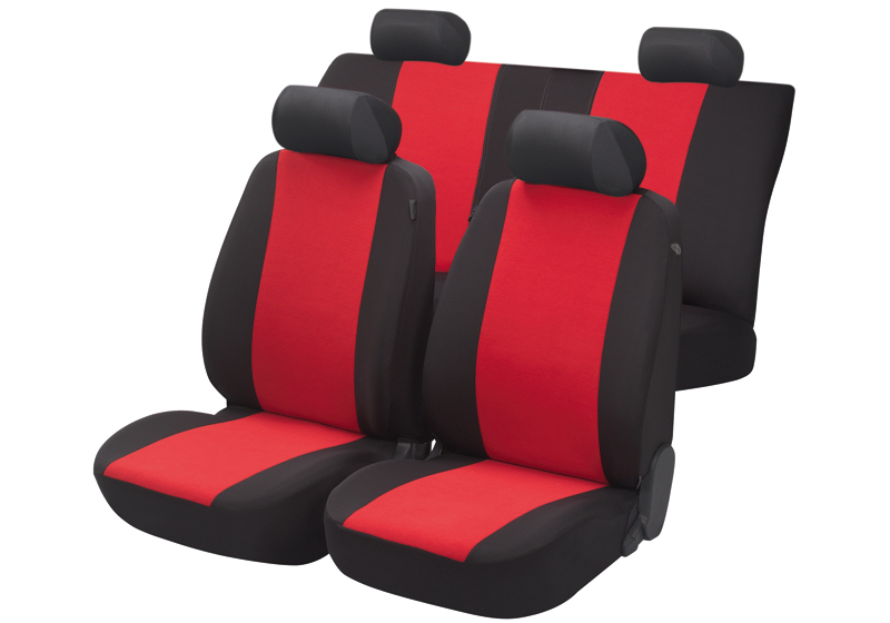 Toyota Land Cruiser Colorado five door (2000 to 2003):Walser seat covers, full set, Flash red, 12473