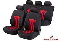 Ford Escort three door (1995 to 1999) :Walser seat covers, full set, Kent red, 11813