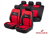 Lancia Delta five door (2008 onwards) :Walser seat covers, full set, RS Racing red, 11819