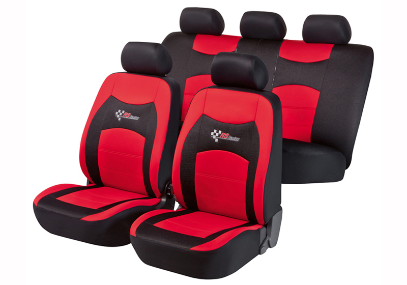 Toyota Land Cruiser Colorado five door (2000 to 2003):Walser seat covers, full set, RS Racing red, 11819
