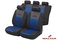 Mazda Xedos 9 (1992 to 2000):Walser velours seat covers, full set, Racing blue, 12466