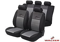 Mazda Xedos 9 (1992 to 2000):Walser velours seat covers, full set, Racing silver, 12468