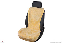 Seat Leon five door (2013 onwards) :Walser seat cover, real sheepskin, beige, 20102