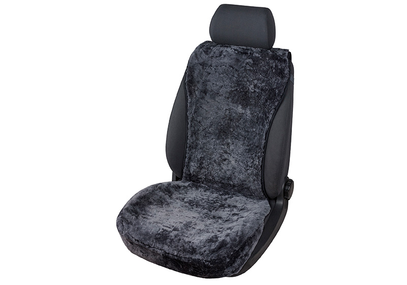 Volkswagen VW T5 Transporter L2 (LWB) H1 (low roof) (2003 to 2015):Walser seat cover, real sheepskin, black, 20069