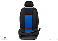 Volkswagen VW Golf five door (2013 onwards) :Walser Bergamon seat cushion, single, black/blue, 14249