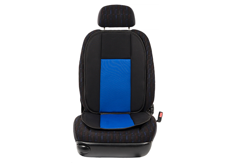 Volvo S60 four door saloon (2010 to 2019):Walser Bergamon seat cushion, single, black/blue, 14249