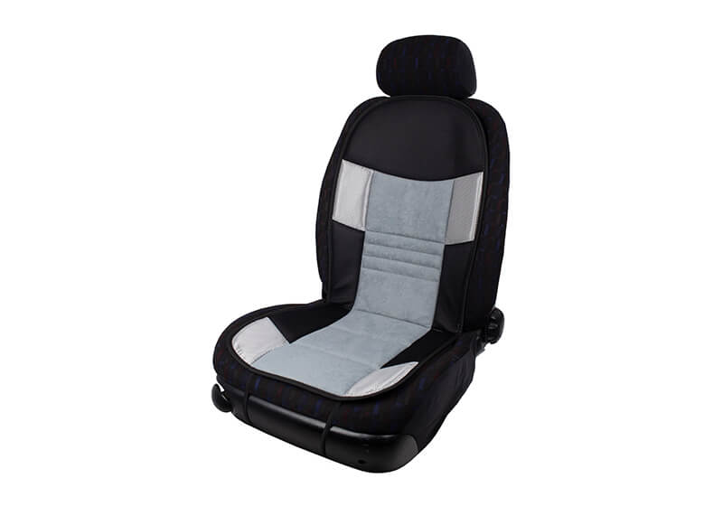 Volvo S60 four door saloon (2010 to 2019):Walser seat cushion, single, black/grey, 11665