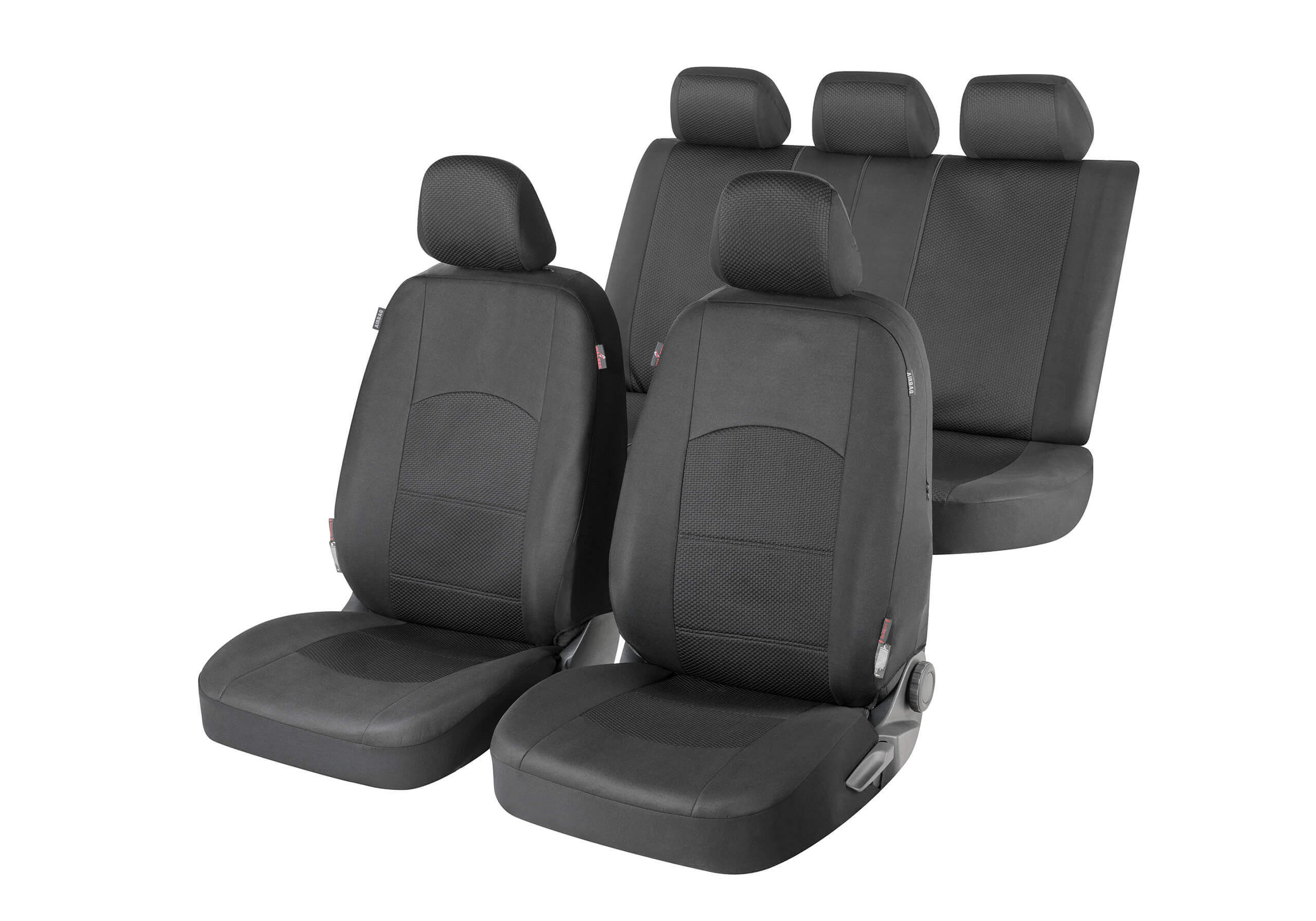 Volvo V70 estate (2000 to 2007):Walser ZIPP-IT seat covers, Derby black, 11834