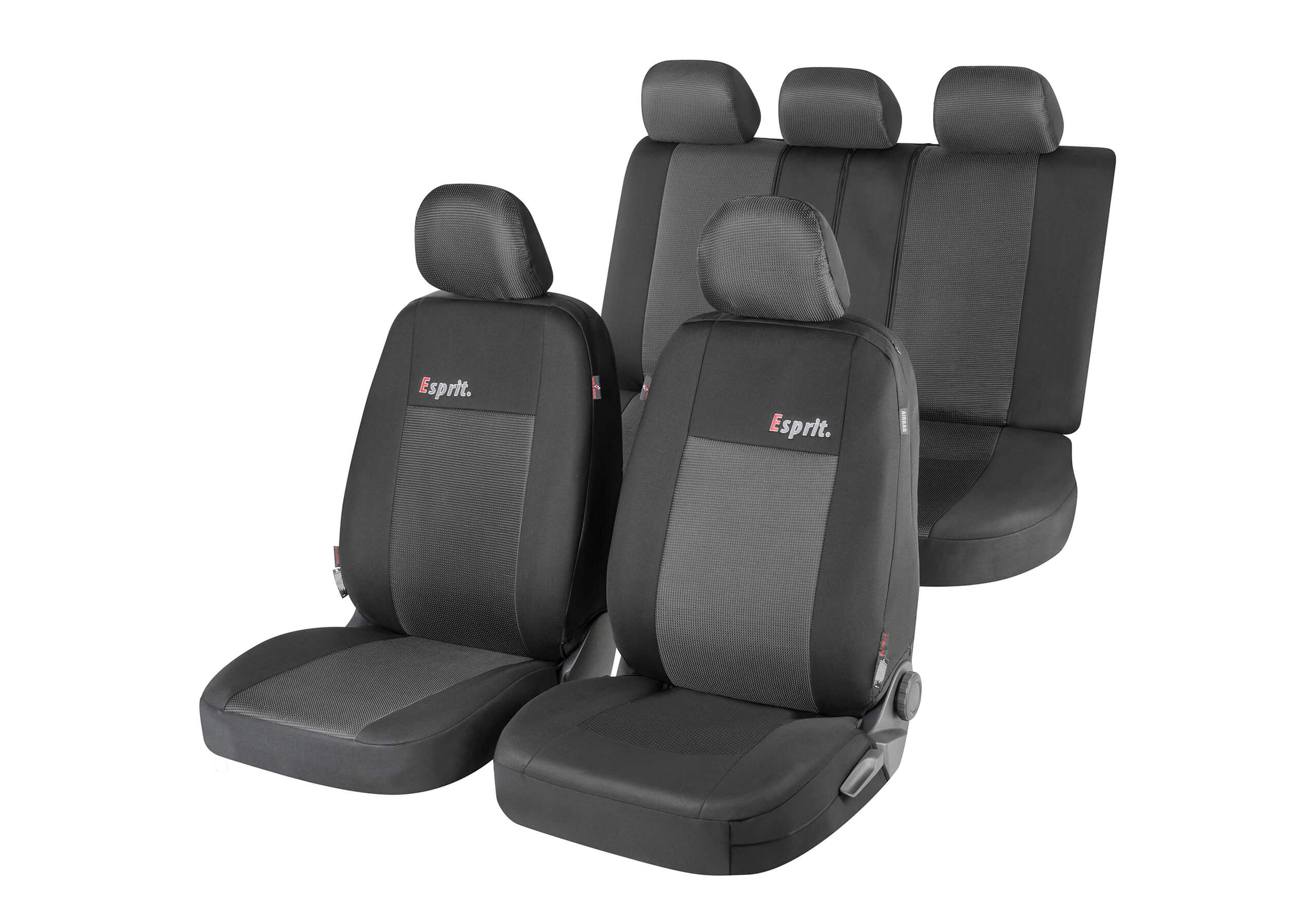 Volvo V70 estate (2000 to 2007):Walser ZIPP-IT seat covers, Esprit black, 11850