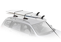 :Yakima SUP Dawg carrier with roof bars
