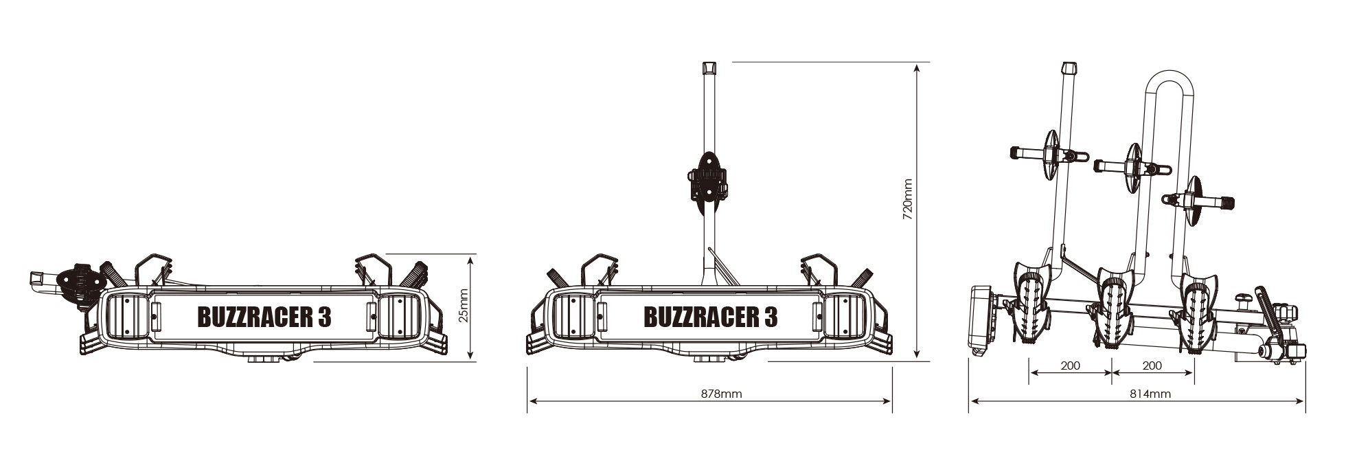 BUZZRACK BuzzRacer 3 technical specifications