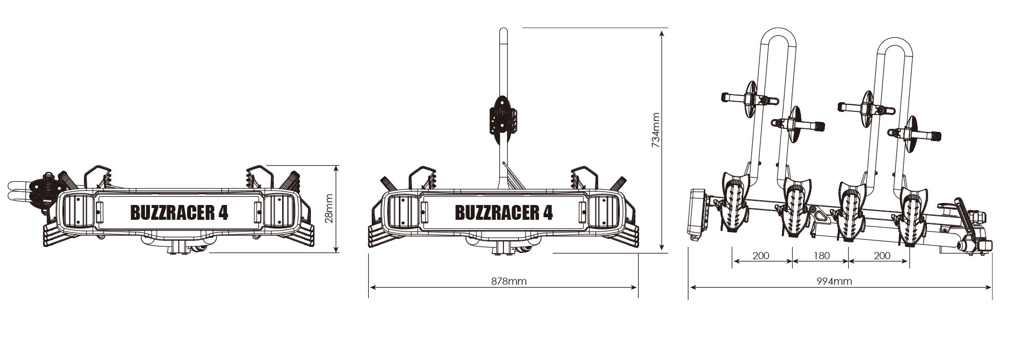 BUZZRACK BuzzRacer 4 technical specifications