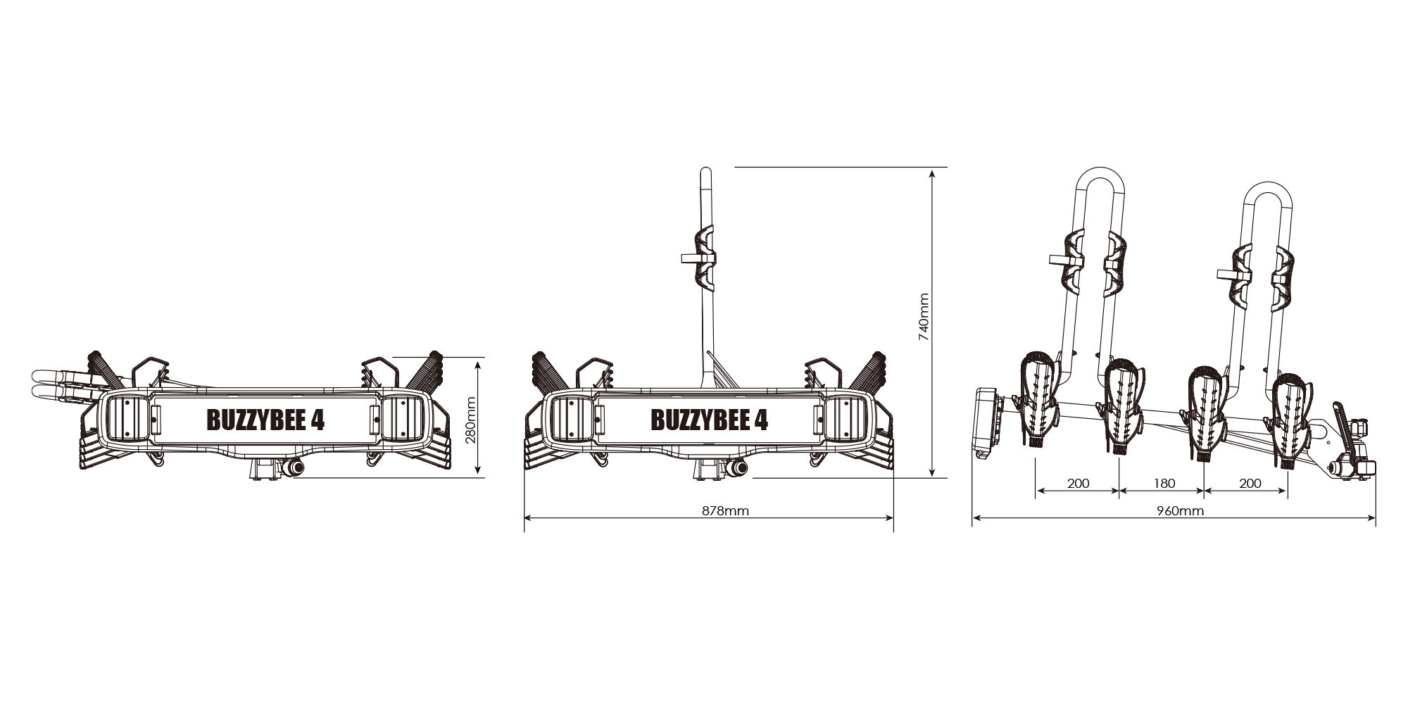 BUZZRACK Eazzy 4 technical specifications