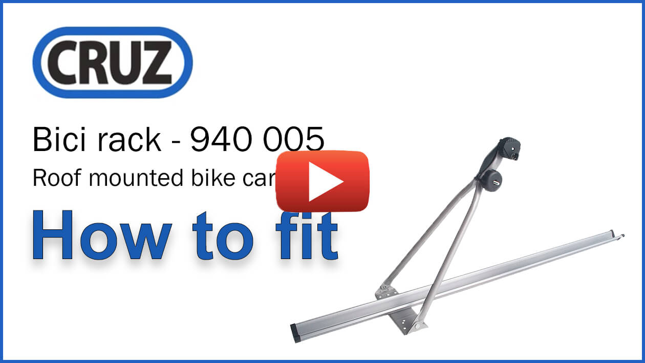 CRUZ Bici rack - Roof mounted Bike Carrier - How to fit