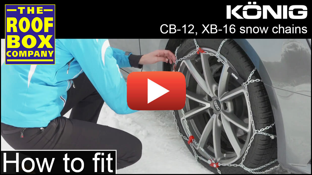 König Snow Chains - How to fit - CB-12, XB-16