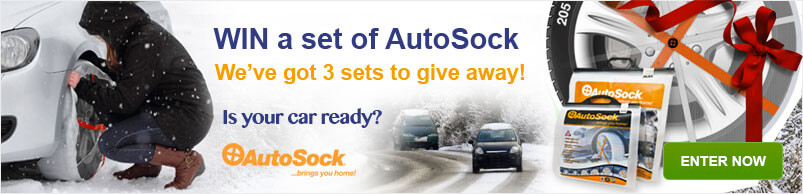 Win a set of AutoSock, We've got 3 sets to give away!, Is your car ready? AutoSock