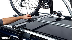 Example of a roof mounted bike carrier