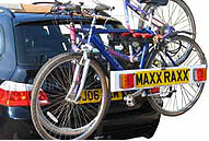 Example of a Tow bar mounting 'Hang On' bike carrier