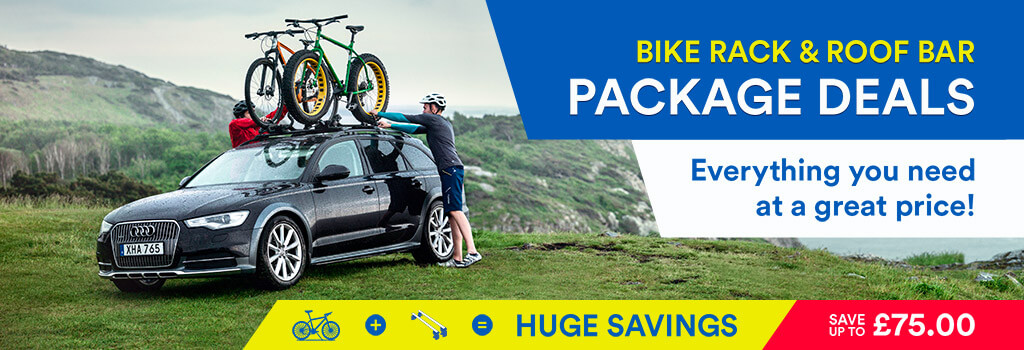 Huge savings on our bike carrier and roof bar package deals