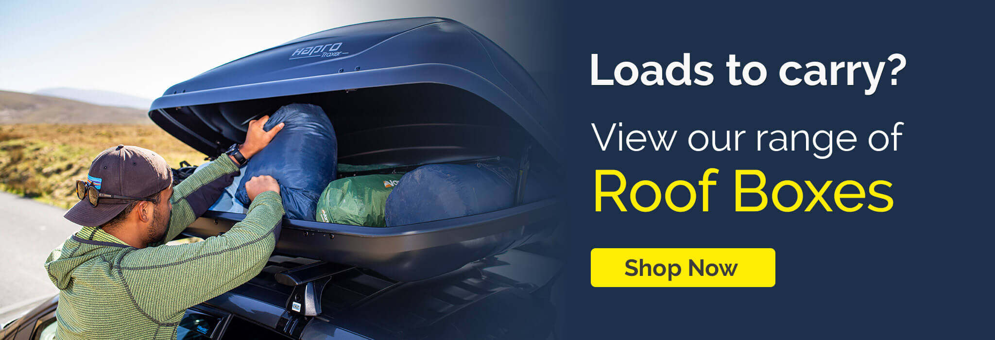 Loads to carry? Check out range of roof boxes