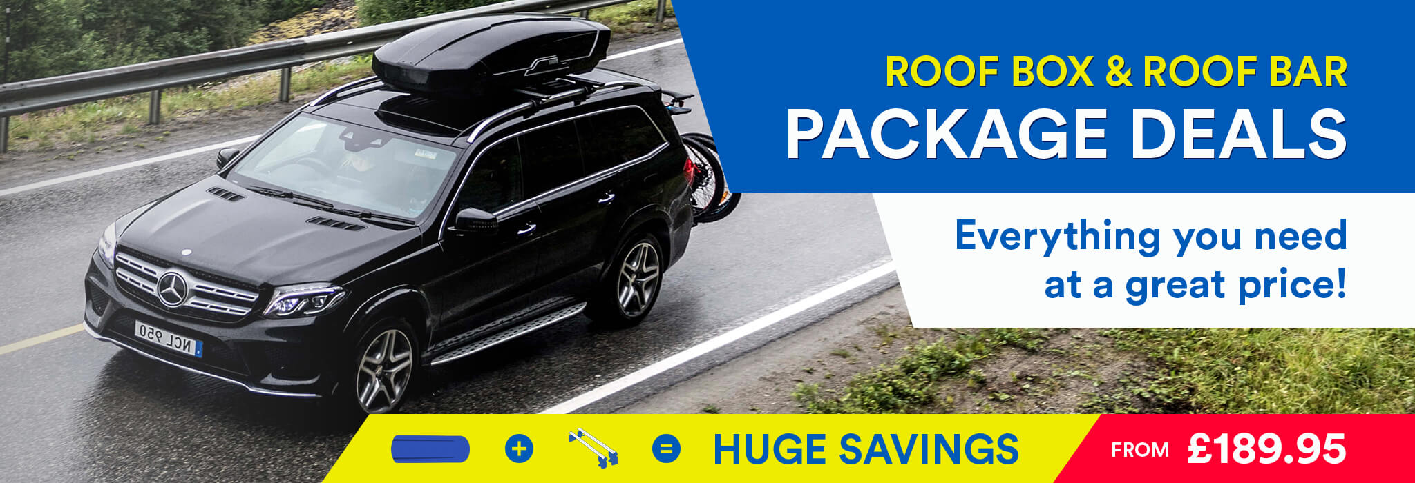 Roofbox package deals: save money by buying roof bars & a roof box