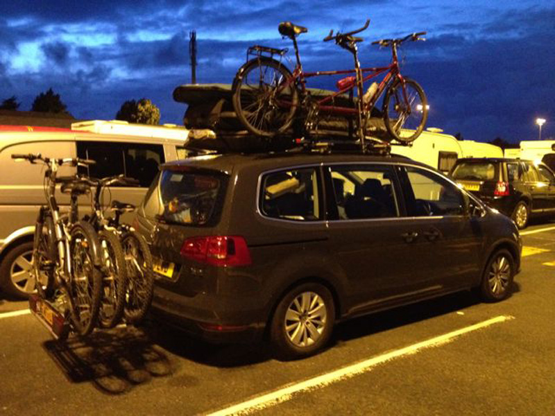 Roof Box Straps Atera STRADA DL 3 to 4 bike carrier (UK lights) no. AR2603.