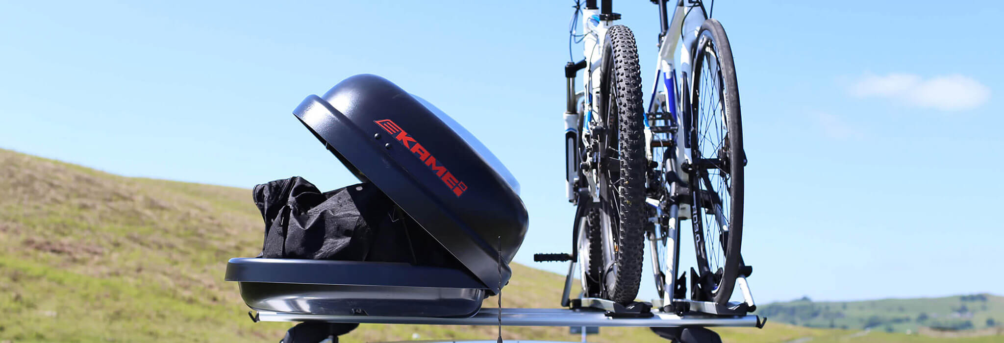 Kamei Husky M Roof Box - with 2 bikes