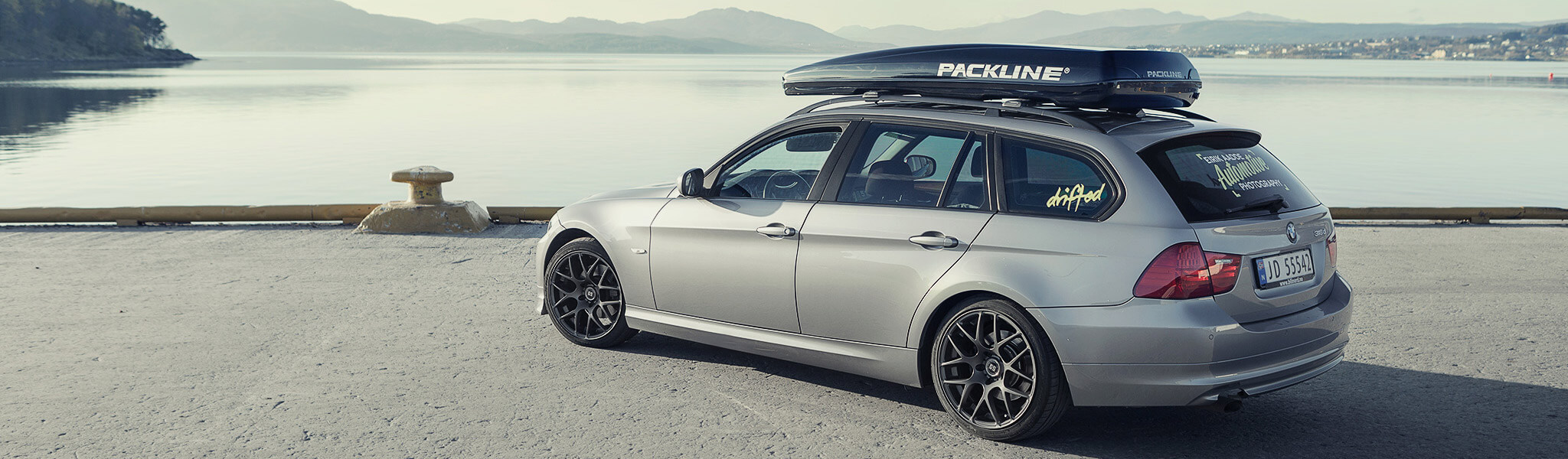 Packline roof box on BMW 3 series Touring